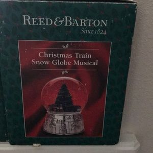 In original box reed &Barton Christmas Train globe